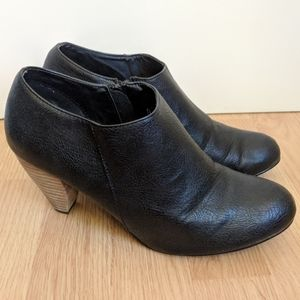 Urban Outfitters UO Black Leather Ankle Booties